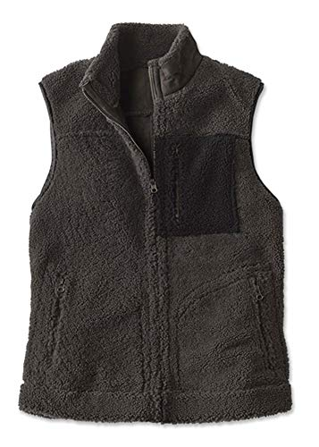 Orvis Men's Shearling Reversible Vest, Medium Charcoal
