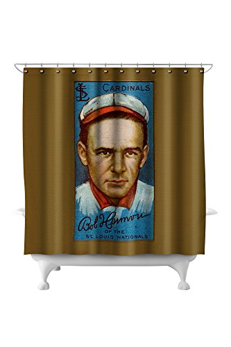 - St. Louis Cardinals - Robert Harmon - Baseball Card (71x74 Polyester Shower Curtain)