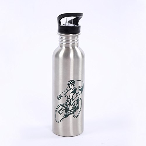 ZOYO Bicycle Bike Water Bottle Vacuum Insulated Stainless Steel Sports Bottle Stainless Steel Sports Water Bottle with Wide Mouth 0.75L BPA Free by ZOYO