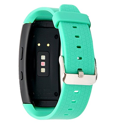 X4-TECH Band for Gear Fit2 Watch Soft Silicone Replacement Elastomer Band Plastic Wristband for Samsung Galaxy Gear Fit 2 SM-R360 Smart Watch (Teal)