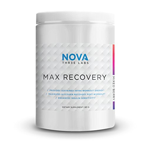 NOVA Three Labs | Max Recovery | Post Workout Carbohydrate Supplement That Enhances Glycogen Repletion, Increases Insulin Sensitivity | 30 Servings (Mixed Berry)