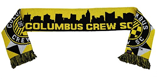 MLS Columbus Crew SC Skyline Scarf, Yellow, One Size (Stadium Scarf)