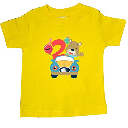 inktastic 2nd Birthday Bear Baby T-Shirt 6 Months Yellow (964 Bear)