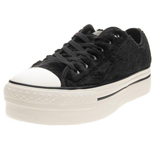 inverno CONVERSE ox 2018 pelo Donna Sneakers faux nero fur as Black bassa 2017 pelo collezione platform nuova ct autunno bianco IBa55xgqn4