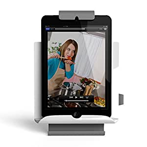 Satechi Adjustable Universal Fridge / Wall Mount for Tablets, Apple iPad, Galaxy Tablet (Retail Packaging) (White)