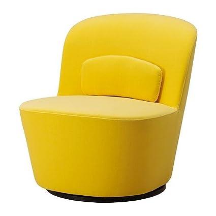 Ikea Stockholm Drehsessel Sandbacka gelb: Amazon.de: Küche ...