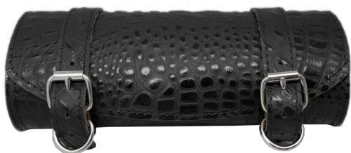 La Rosa Harley-Davidson Sportster Chopper Bobber Black Alligator Emboss Leather Front Fork Tool Bag