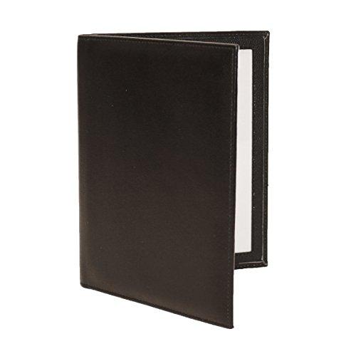 (Karandu Double 4x6 Portrait Leather Picture Frame - Black)