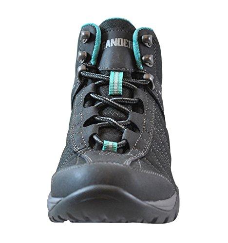 Gander Bergvrouwen Trail Climber Ontdekkingsreizigers Schoenen Black / Teal