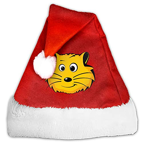 Plush Christmas Hat Hamster Face Heads Santa Hat for Adults Party Hats with Plush Christmas Costume Hat ()