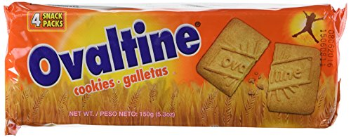 Ovaltine Biscuits, 150-Gram Packages - Pack of 6 (120 Biscuits)
