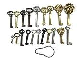 Skeleton Key Set Reproduction for Antique Furniture - Cabinet Doors, Grandfather Clocks, Dresser Drawers Vintage Old Furniture | KY-20S