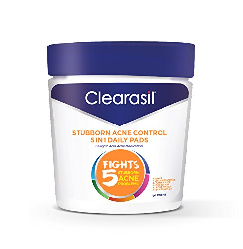 Clearasil Stubborn Acne Control 5in1 Daily Cleansing Pads, 90 ct. (Packaging may vary)