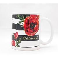 Coffee Mug - Bridesmaid Red Poppy - Wedding Party Gift