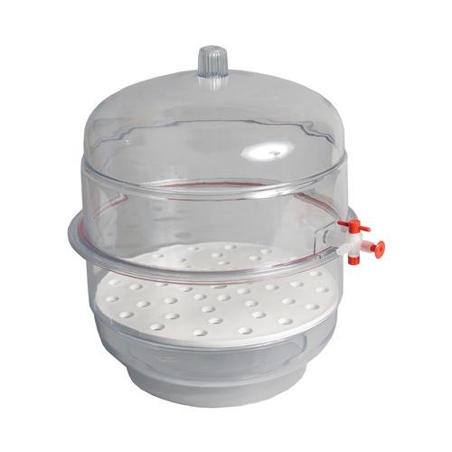 United Scientific Supply Desiccator, Vacuum, Clear Base, 12'' - USS