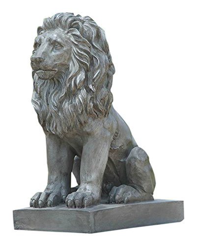 (Hi-Line Gift Ltd Sitting Lion Statue)