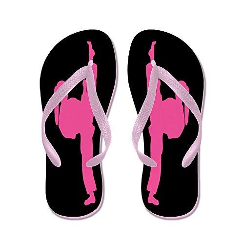 Cafepress Martial Arts Dames Roze - Flip Flops, Grappige String Sandalen, Strand Sandalen Roze