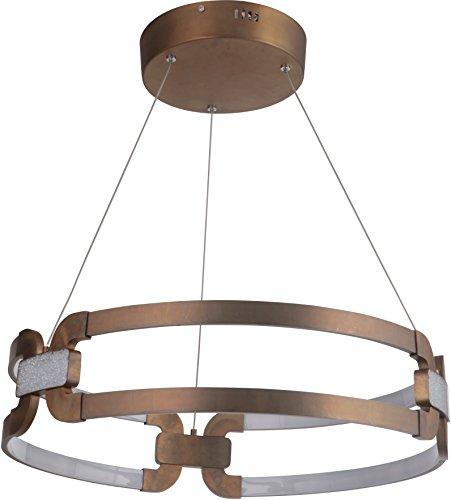 - Craftmade 47290-PAB-LED Amulet LED Acrylic Pendant Light, Patina Aged Brass 1-Light (24