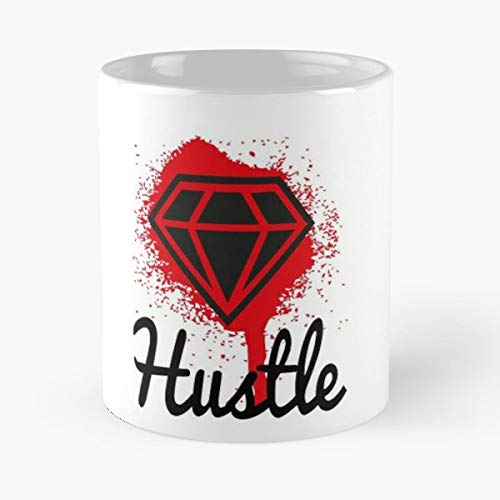 (Diamond Graphic Slogan Hustle Hustler - Funny Gifts For Men And Women Gift Coffee Mug Tea Cup White 11 Oz.the Best)
