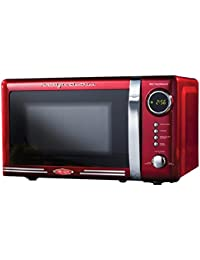 Nostalgia Electrics 0.7 Cu. Ft. 700W Countertop Microwave, Microwave Ovens Countertop, Red
