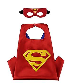 Capa Superman para Niños con Máscara