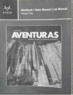 Vistas 5th ed student activities manual answer key answer key only aventuras workbook video manual lab manual answer key fandeluxe Choice Image