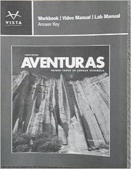 Aventuras workbook video manual lab manual answer key vhl aventuras workbook video manual lab manual answer key vhl 9781618570581 amazon books fandeluxe Choice Image
