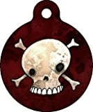 Skull and Crossbones - Custom Pet ID Tag for Cats and Dogs - Dog Tag Art by Dog Tag Art