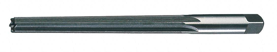 Straight Flute, Taper Pin Reamer, Size #4/0, 0.1140 Decimal Equivalent