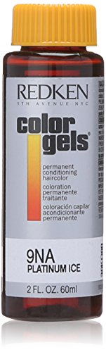 Ice Color (Redken Color Gels Permanent Conditioning 9NA Platinum Ice for Unisex 2 Oz, 2 Ounce)
