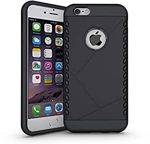 Fashion Ultra Thin TPU Rubber Gel PC Protective Case Cover For iPhone 6 plus Black