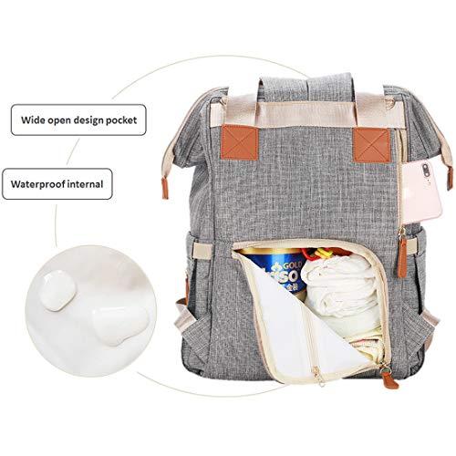 Diaper Bag,Waterproof Baby Diaper Backpack for Baby Care (Golden)