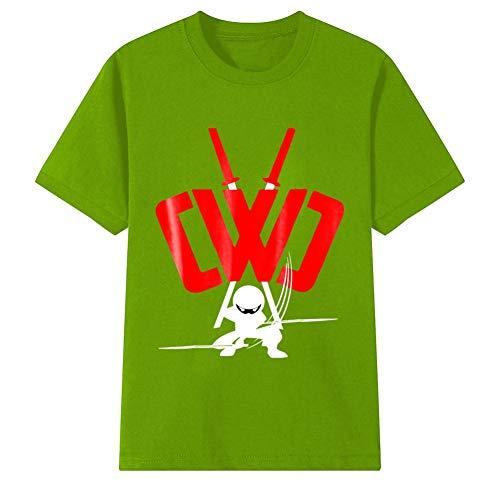 5fc1e838bdeb Youth Chad Wild Clay Ninja T-Shirt Short Sleeve Tee Shirts for Boys' Girls  S Green