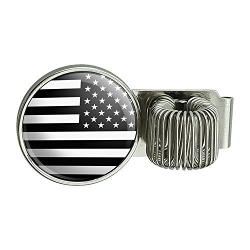 Subdued Reverse American USA Flag Black White Military Tactical Planner Journal Appointment Book Diary Notebook Pen Holder Clip Accessory (Military Diary)