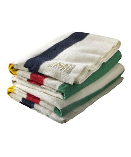 - Hudson Bay 6 Point Blanket, Natural with Multi Stripes