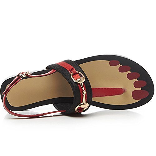 Nine SevenSandals - Toe post mujer Red