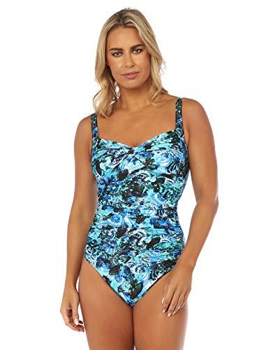 Seaspray SY007790 Thetis Black Multicolour Twist Bust Swimsuit