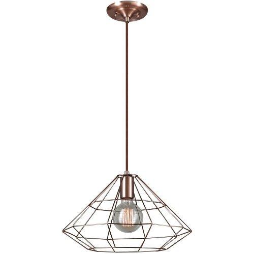 Copper Cage Pendant Light