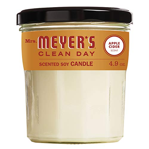 Mrs. Meyer's Clean Day Scented Soy Candle, Apple Cider Scent, 4.9 Ounce Candle