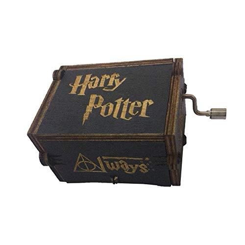 XueSenShangMaoBu Manivela Home Classic Harry Potter Caja de m/úsica de Madera Creativa Caja de m/úsica Talla de Madera Hecho a Mano Caja de m/úsica