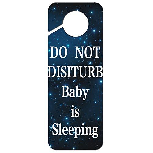 - MENWO34W Personalized Do Not Disturb Baby is Sleeping Plastic Door Knob Hanger Sign