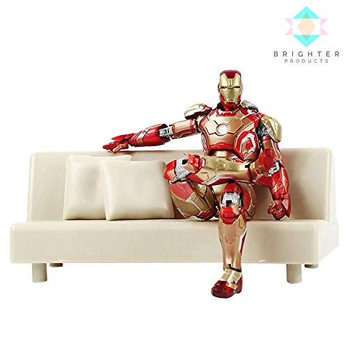 Brighter Products Action Figures   S.H. Figuarts Iron Man Mark 42   Mark 43 Collectible Model with Sofa (Mark 42 w/ Sofa) ()
