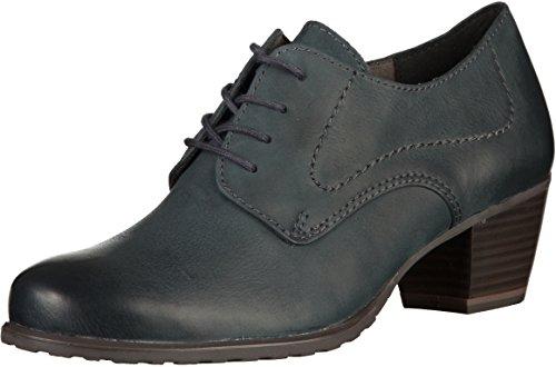 cordones 23319 mujer cuero Tamaris zapatos con marino azul de gntYnxCZ