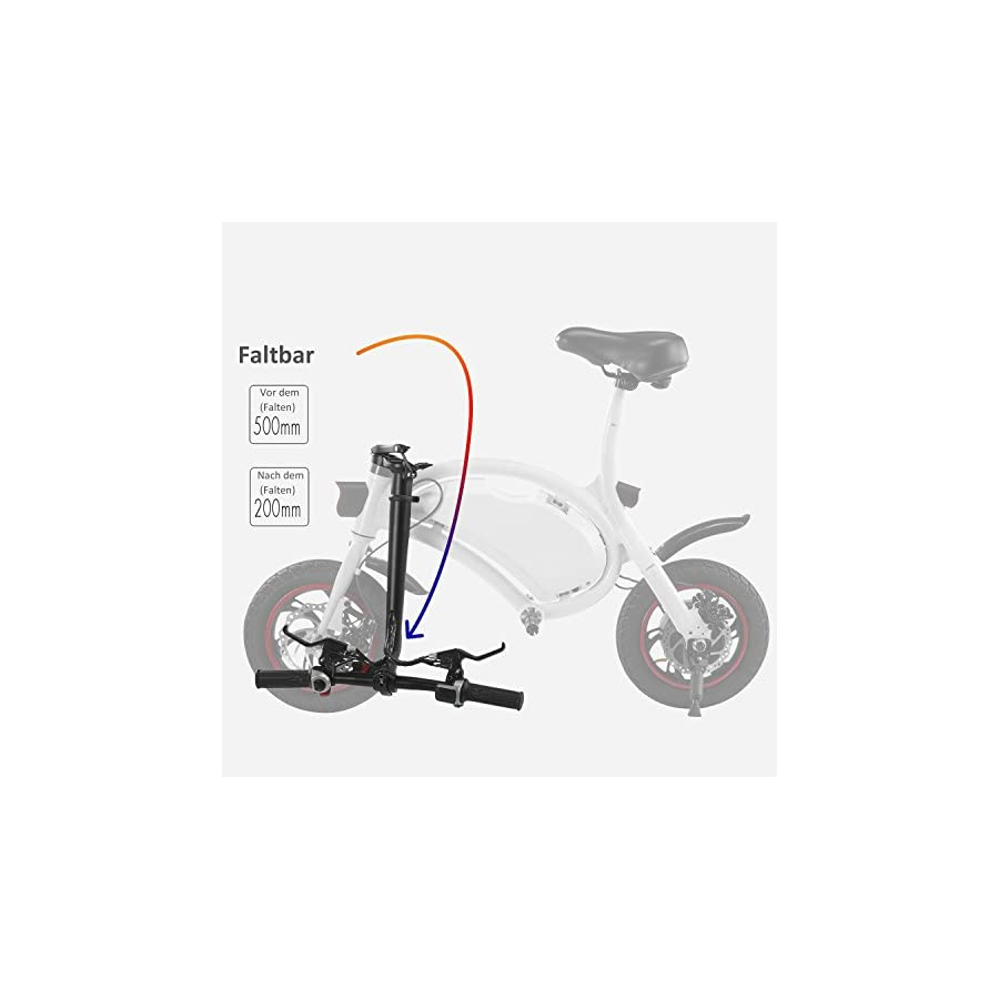 Cheesea Folding Electric Bicycle E Bike, Electric Bike with 15 Mile Range Collapsible Frame and Handlebar Display APP Speed Setting – [US STOCK] (White)