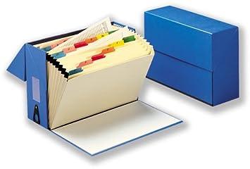 5 Star 297269 - Caja clasificadora con 20 fundas A - Z, color azul: Amazon.es: Oficina y papelería