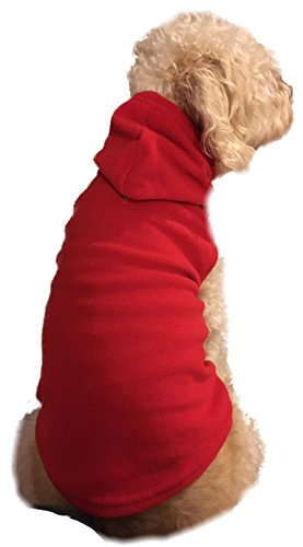 Red Fleece Hoodie Sweatshirt Pajamas for Dog & Cats with Hoodie (XL) For Sale