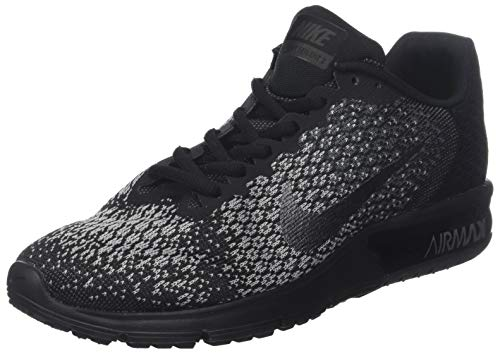 - Nike Men's Air Max Sequent 2 Running Shoe Black/Dark Grey Size 10 M US