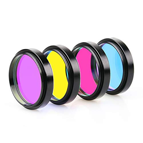 SVBONY 1.25 Inch LRGB Imaging Filter Set Suitable for Deep Sky and Planetary CCD Imaging