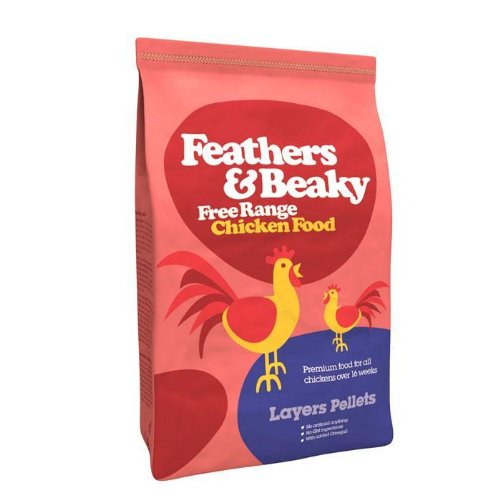 Feathers And Beaky Feathers & Beaky Free Range Chicken Food Layers Pellets 5Kg 5000G by Feathers and Beaky