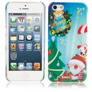 Christmas Series Rhinestone Protective Case for iPhone 5/5S Lovely Santa Claus